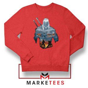 Geralt of Rivia and Eredin Red Sweatshirt