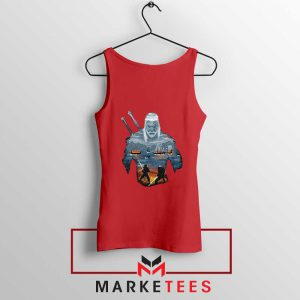 Geralt of Rivia and Eredin Red Tank Top