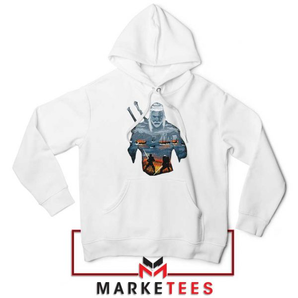 Geralt of Rivia and Eredin White Hoodie