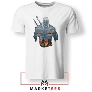 Geralt of Rivia and Eredin White Tshirt