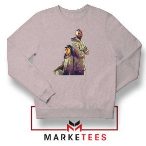 Gianna Bryant and Kobe Bryant Grey Sweater