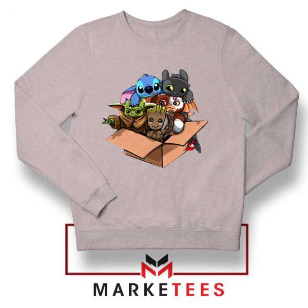 Kawaii Team The Child Grey Sweater