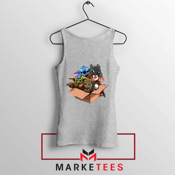 Kawaii Team The Child Grey Tank Top