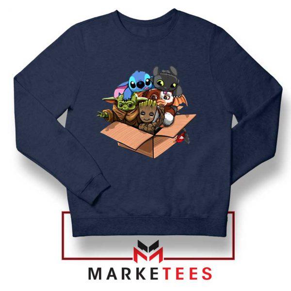 Kawaii Team The Child Navy Sweater