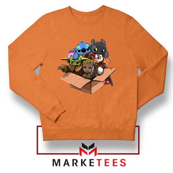 Kawaii Team The Child Orange Sweater