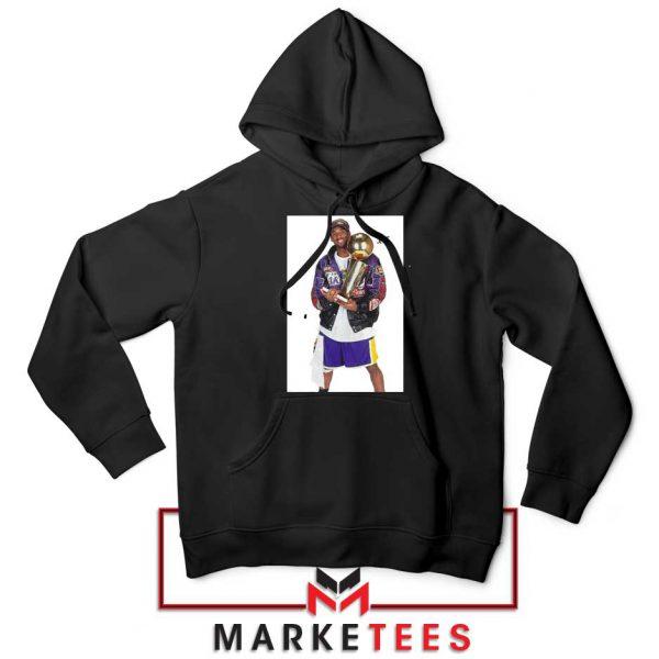 Kobe Bryant 5 Trophies NBA Black Hoodie