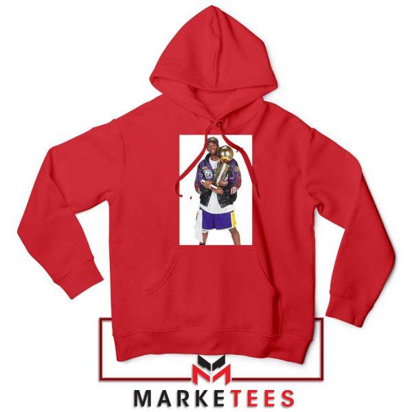 Kobe Bryant 5 Trophies NBA Red Hoodie