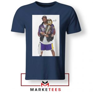 Kobe Bryant 5 Trophies Navy Tee Shirt