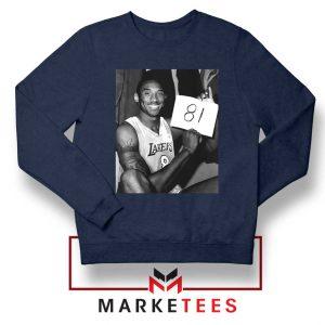 Kobe Bryant 81 Point Game Navy Sweatshirt