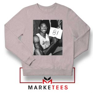 Kobe Bryant 81 Point Game Sport Grey Sweatshirt