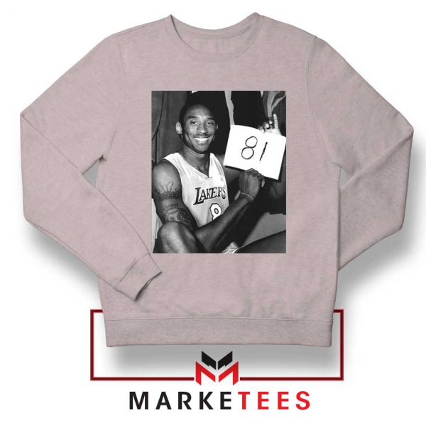 Kobe Bryant 81 Point Game Sport Grey Sweatshirt