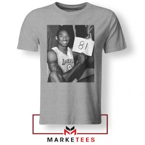 Kobe Bryant 81 Point Game Sport Grey Tshirt