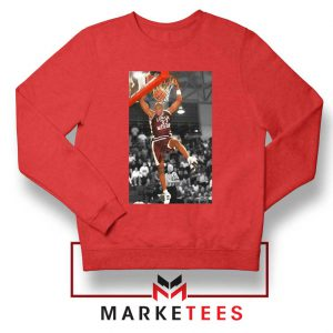 Kobe Bryant Basketball Superstar Red Sweatshirt