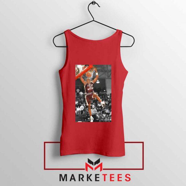 Kobe Bryant Basketball Superstar Red Tank Top