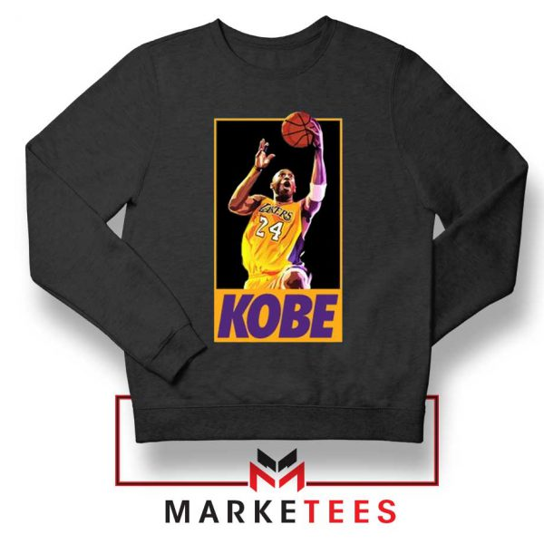 Kobe Bryant Slam Dunk Poster Black Sweatshirt