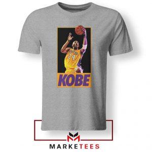 Kobe Bryant Slam Dunk Poster Grey Tshirt