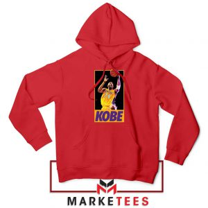 Kobe Bryant Slam Dunk Poster Red Hoodie