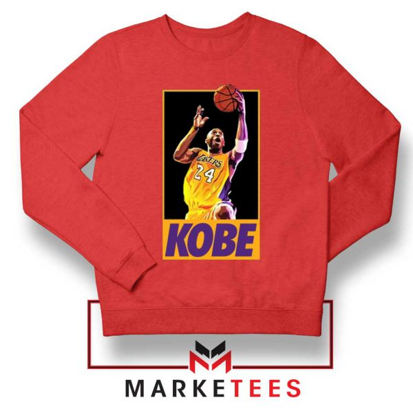 Kobe Bryant Slam Dunk Poster Red Sweatshirt