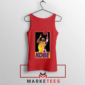 Kobe Bryant Slam Dunk Poster Red Tank Top