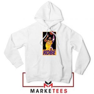 Kobe Bryant Slam Dunk Poster White Hoodie