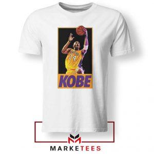 Kobe Bryant Slam Dunk Poster White Tshirt