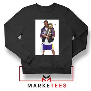 Kobe Trophies NBA Championship Black Sweatshirt