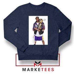 Kobe Trophies NBA Championship Navy Sweatshirt