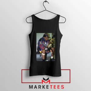 Kobe Winning NBA Championship Black Tank Top