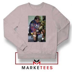 Kobe Winning NBA Championship Grey Sweater