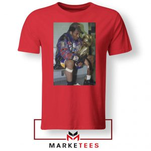 Kobe Winning NBA Championship Red Tshirt