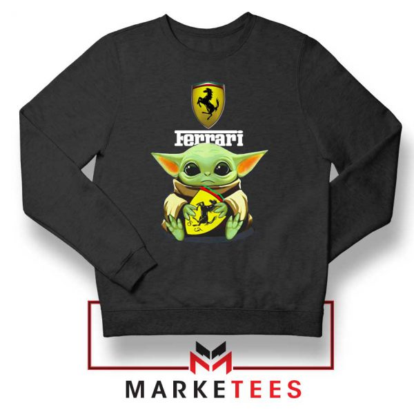 Logo Ferrari The Child Black Sweatshirt
