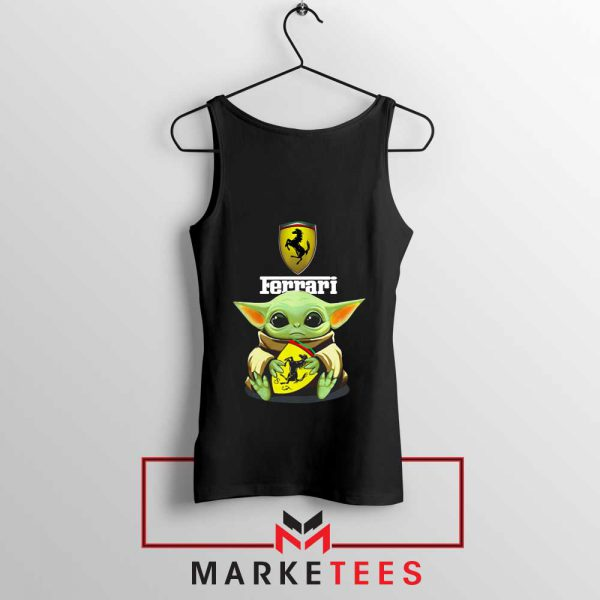 Logo Ferrari The Child Black Tank Top