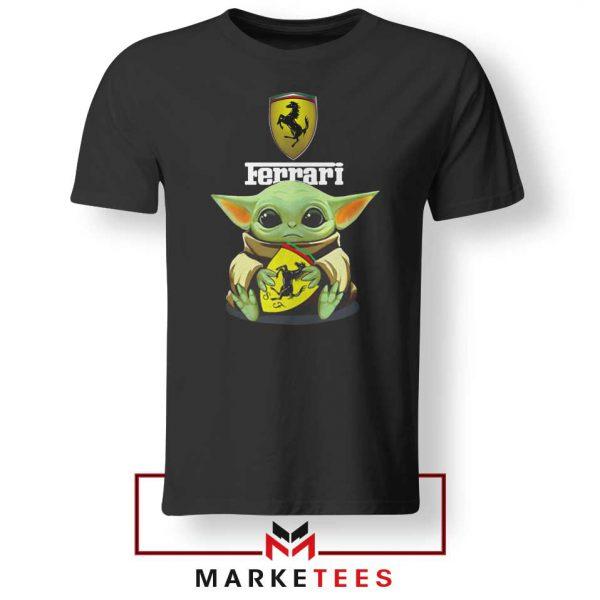 Logo Ferrari The Child Black Tshirt