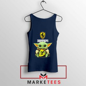 Logo Ferrari The Child Navy Tank Top