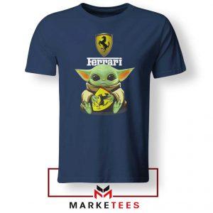 Logo Ferrari The Child Navy Tshirt