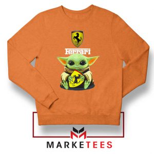 Logo Ferrari The Child Orange Sweatshirt