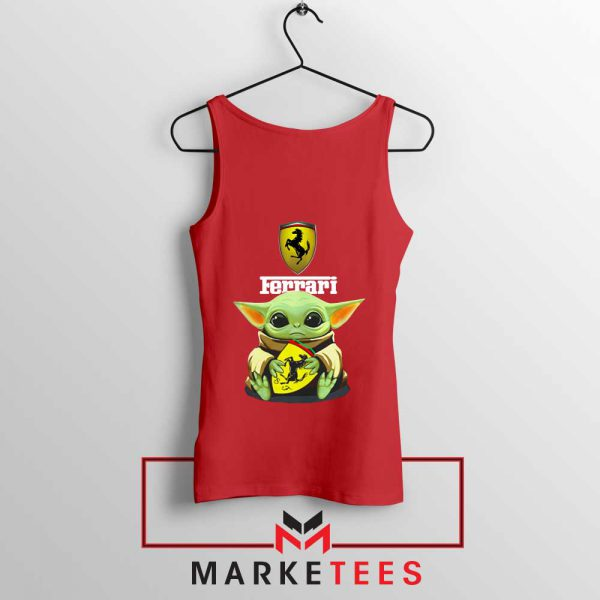 Logo Ferrari The Child Red Tank Top