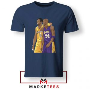 Los Angeles Lakers Pay Tribute Kobe Navy Blue Tshirts