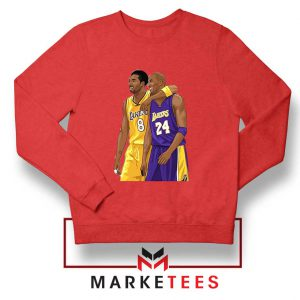 Los Angeles Lakers Pay Tribute Kobe Red Sweatshirt