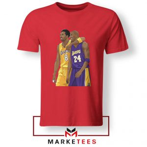 Los Angeles Lakers Pay Tribute Kobe Red Tshirts