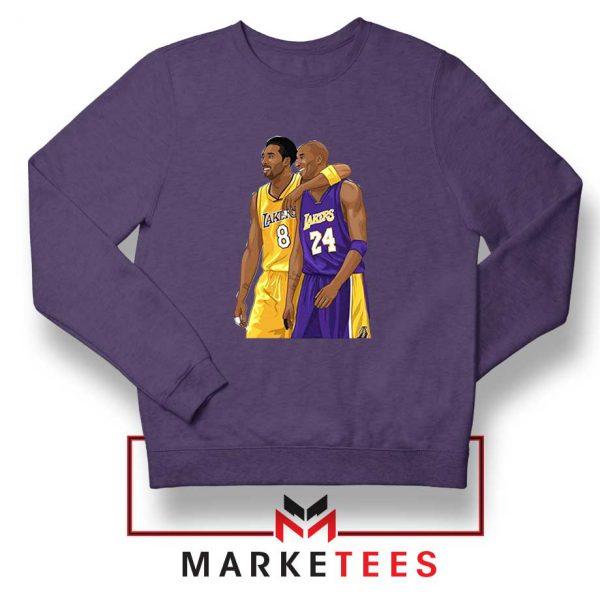 Los Angeles Lakers Pay Tribute Kobe Sport Grey Sweatshirt