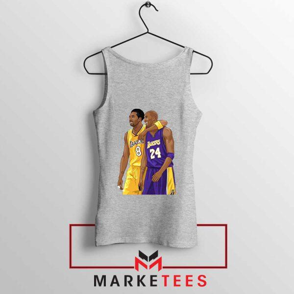 Los Angeles Lakers Pay Tribute Kobe Sport Grey Tank Top