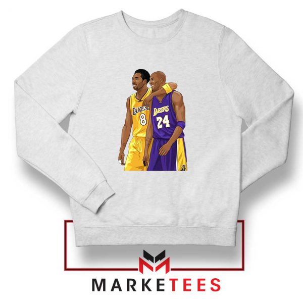 Los Angeles Lakers Pay Tribute Kobe White Sweatshirt