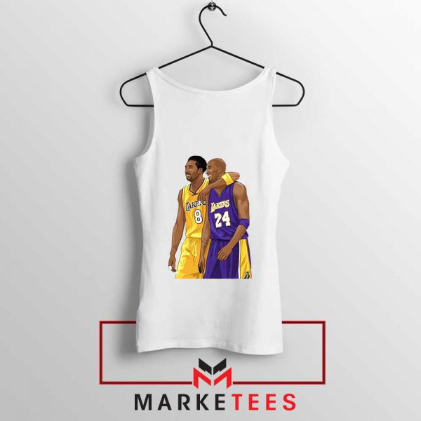Los Angeles Lakers Pay Tribute Kobe White Tank Top