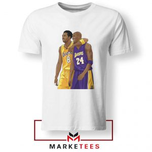 Los Angeles Lakers Pay Tribute Kobe White Tshirts