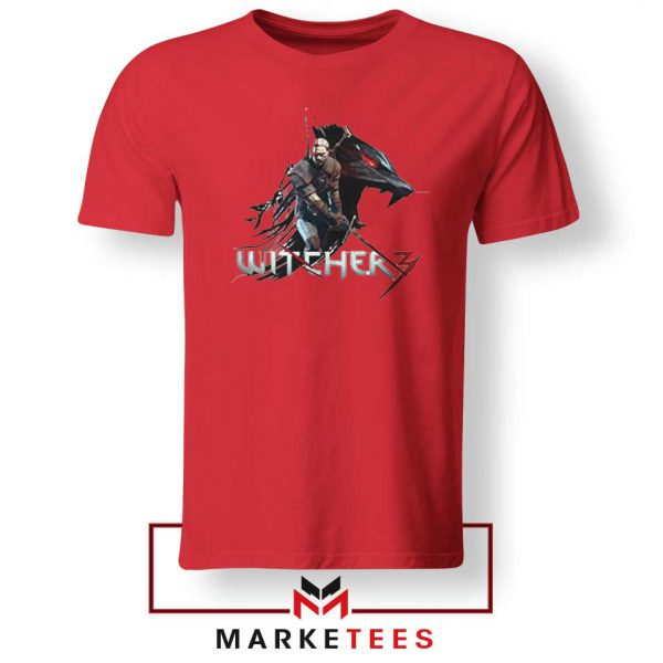 Mount Get The Witcher Red Tee Shirt