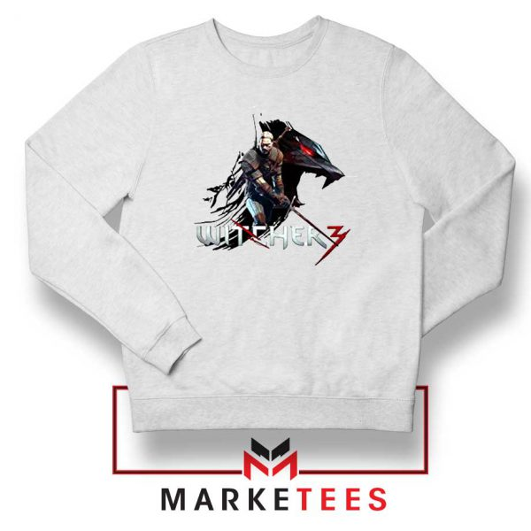 Mount Get The Witcher White Sweatshirt