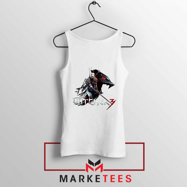 Mount Get The Witcher White Tank Top