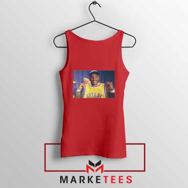 NBA Honor Lakers Legend Red Tank Top
