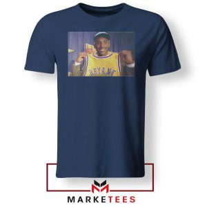 NBA Teams Honor Lakers Legend Navy Tshirt